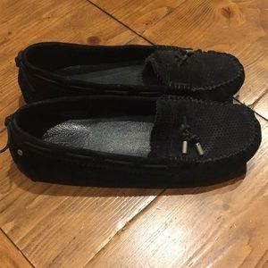 UGG Moccasins, indoor/outdoor, black, size 9